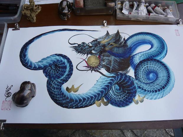 pintura-dragao-japones