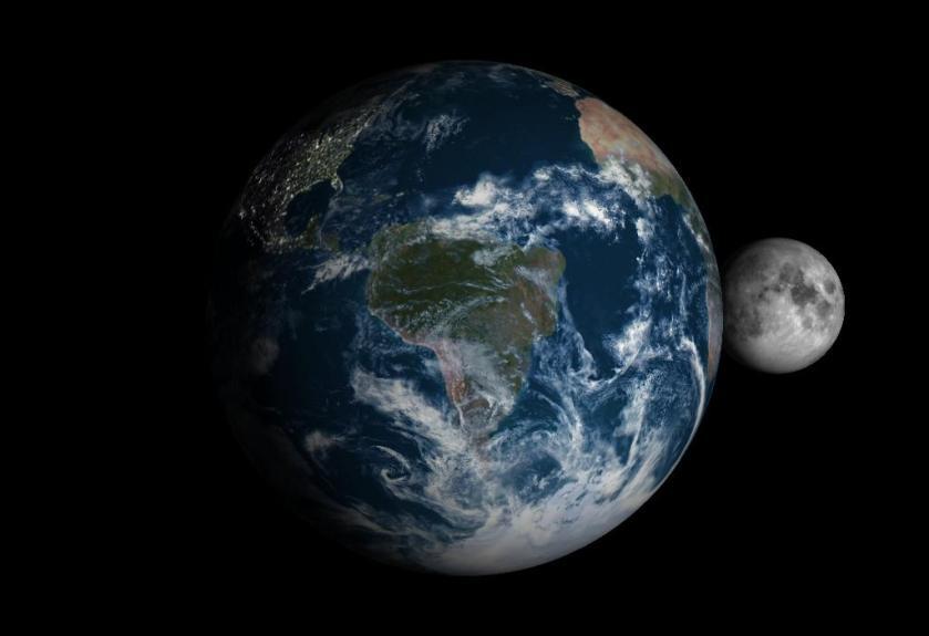 terra e lua cheia