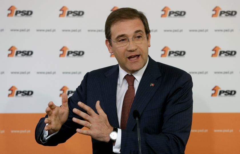 O líder do PSD, Pedro Passos Coelho, durante a conferência de imprensa onde apresentou o projecto do partido para a reforma da Segurança Social, na sede do partido em Lisboa, 3 de junho de 2016. STEVEN GOVERNO/LUSA